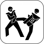 icon_taekwondo_schwarz_auf_weiss_250px